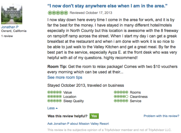 Tripadvior Reviews