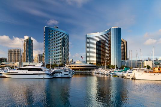 Port San Diego under sunny sky